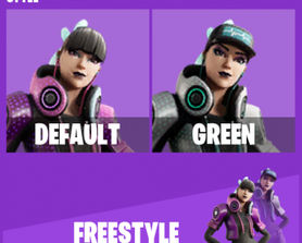 Leaked Freestyle skin and its green style