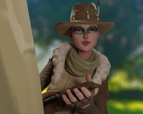 When Jess notices teammates completing the objective while she farms.