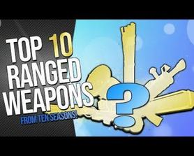 FORTNITE | TOP 10 BEST RANGED WEAPONS FROM 10 SEASONS = Power-creep proven