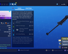 I can't increase the rarity of the new black spear, is anyone else having this issue?