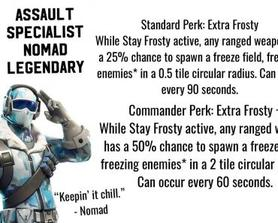 Keep the competition COOL with Assault Specialist Nomad! (Hero Concept)