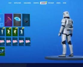 Imperial StormTrooper ingame (Star Wars X Fortnite)