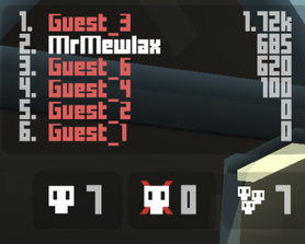 hopped ina lobby with all guests