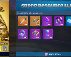 When you don't need heroes, survivors or schematics, something to spend your v bucks on other than cosmetics (amounts would vary llama to llama) cost was just on original llama image, it could be anything