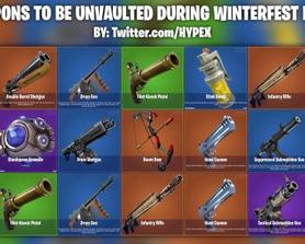 All Winterfest weapons to be unvaulted.