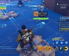 Double building health on anti air traps is the same as only having 1 building health buff. I'll share the image of a ceiling piece with a ceiling trap with only 1 health boost having the same health as double building health
