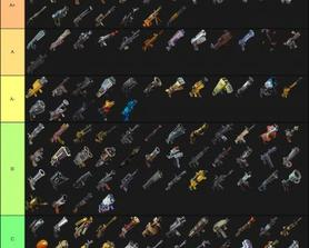 Fortnite StW Ranged Weapons Tier List