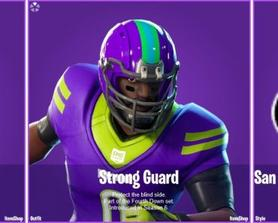 All Fourth Down Set Outfit Skins have a new Superbowl Variant! (@SkinTrackerCom)