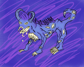 Dasher, a husk hound made to look like a storm king mist monster