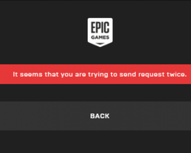 """Getting """"Send Request Twice"""" Error Message when trying to sign in"""