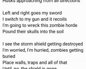 Some more poetry for the STW players