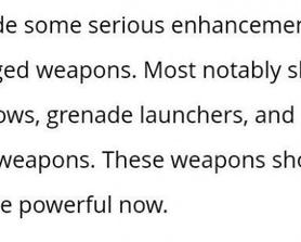 """""""Snipers, bows"""" Does this mean bows will be a separate weapon type in the future?"""