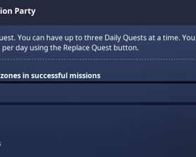 Exploration Party ! One of the many new daily quest added in the game. Good to see they added a bit of variety to these quests.