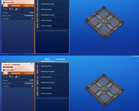 Healing Pads. Dont bother perking the other 3 durability to legendary for one use added to the healing pad.
