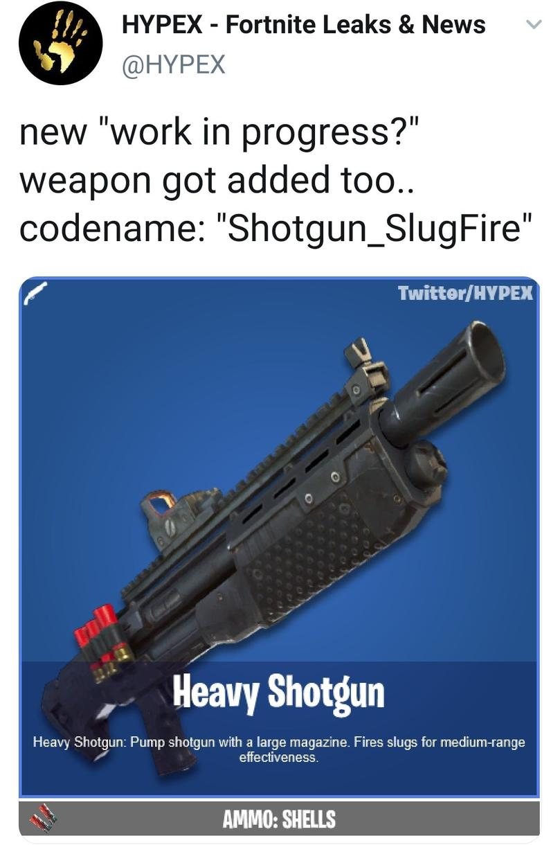 New weapon. Heavy shotgun possibly coming back? (Credit ...