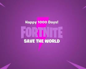 Dont mind me, just doing something the Devs dare to do! Happy 1000 Days of Save the World!