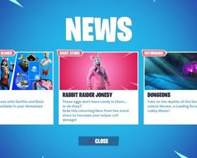 Epic: In case you've been living under a rock, the locker now supports outfits and backblings (Today's News Feed)