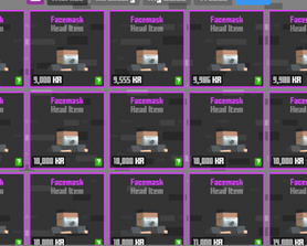Even in Krunker face masks are expensive smh