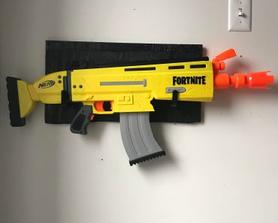 Made a rack for my automatic nerf gun