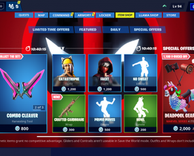 Should the item shop be integrated into STW?