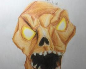 I drew a husk but I know that I haven't uploaded in a while,I'm all fine but I've just been a little busy :)