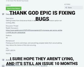 """Literally the majoriy of the """"Fixed in next release"""" bugs in a nutshell."""