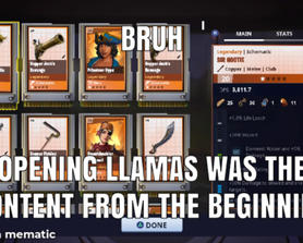 Llamas are the only content now