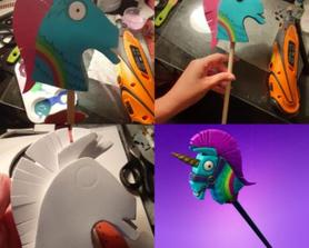 Making a 14 inch Rainbow Smash pick axe just to see if I can! Progress.