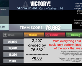 Before the downtime for v13, I wound up in a Canny storm shield defense. I am PL 38.