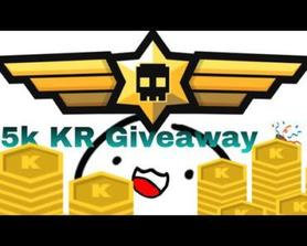 The 100 subs 5K KR Giveaway 🎉
