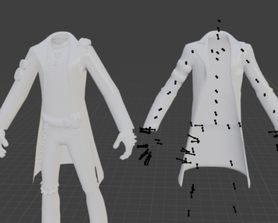 Lars' model is weird and his coat is two coats