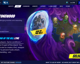 """So, as you can see, I have a lot of different ideas for StW... Yeah, Annoying, right? Anyway, that's my remastered UI for the Map and a concept for """"King of the Hill"""" LTM. Enjoy ~"""