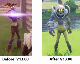Zapper/Cowboy husks model has been replaced with an outer space variant.