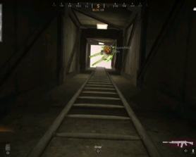 How to revive a downed player stuck on the ladders of doom at a fire station building.
