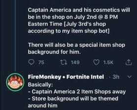 Captain America release date from FireMonkey