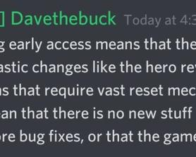Dave comments on what leaving Early Access means for the game