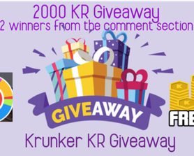 2000 KR Giveaway!!! Leave username in the comments I will choose 2 winners from there!