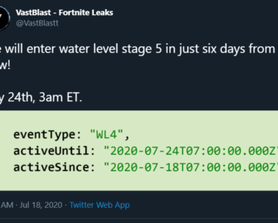 We will enter water level stage 5 on July 24th at 3am ET (we just started stage 4). [via @VastBlastt on Twitter]