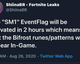 Bifrost runes will be in game in 1 hour and 40 min (via@shiinaBR)