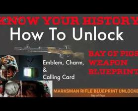 Warzone Know Your History Tutorial How to unlock Bay of Pigs Blueprint/Cold War Emblem Calling Card