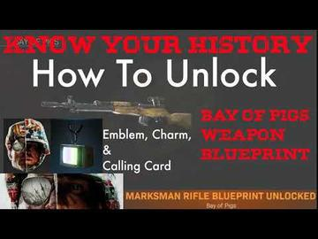 Call Of Duty Warzone Warzone Know Your History Tutorial How To Unlock Bay Of Pigs Blueprint Cold War Emblem Calling Card Fortnite Quiz