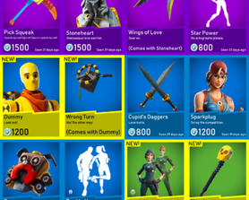 New item shop after downtime ends!