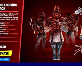 Here's how the Corrupted Legends will look in the shop - The price is a placeholder. (via/ShookPA)
