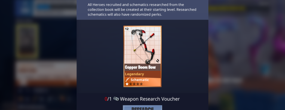 The Boom Bow can now be researched with a voucher under Holiday Weapons