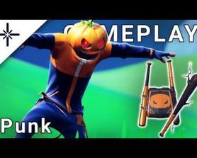 Punk Skin gameplay with Pickaxe, Back Bling and Wrap! (@SkinTrackerCom)