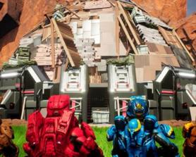 I dont really mind this but the new Red vs Blue short had Lvl 2 and 3 walls and stairs from Save the world in the dome the characters made