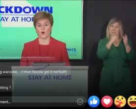 Nerf the DMR @ Scotlands first minister news conference