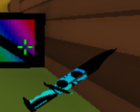 Gamer's Mod replaces the default knife with a Karambit, and when its loading, it looks like this. Lowkey kinda cool.