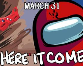 Airship Map Releases on March 31st. HERE IT COMES!! (Art by Among Us Twitter)