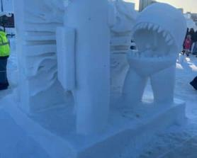 Someone did this at a snow sculpting competition in Alaska.